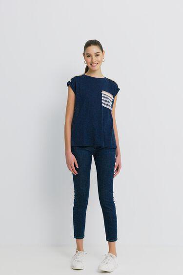 T-shirt back mesh | Desigual