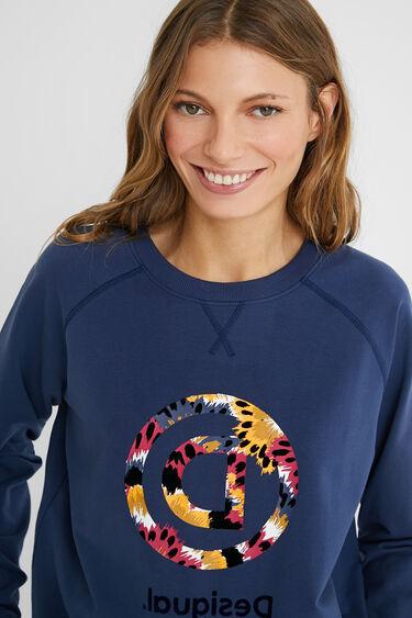Reverse D printed sweatshirt | Desigual