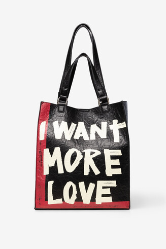 Lettering shopping bag