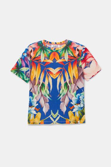 Fine ribbed print T-shirt | Desigual