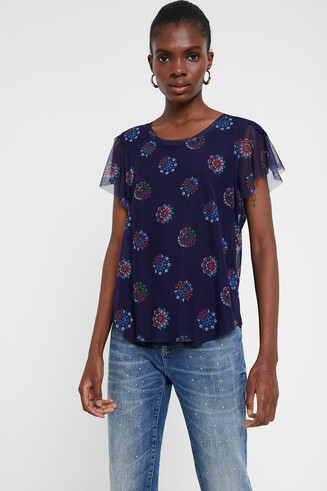 Tulle and mandalas T-shirt