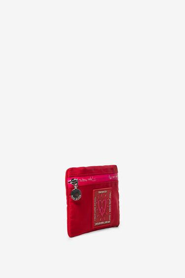 Portfel w kolorach fuksji i czerwonym z suwakiem | Desigual