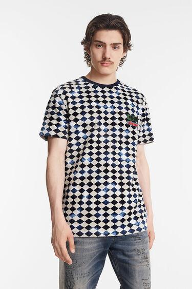 Maglietta a rombi bicolore | Desigual