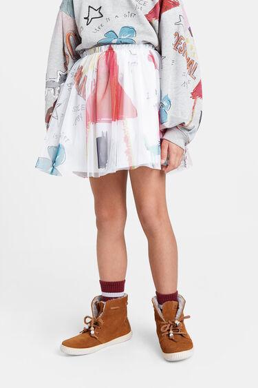 Multilayer tulle skirt | Desigual