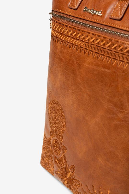 Mochila marrón con efecto piel Baza | Desigual