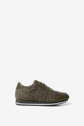 Khaki logomania sneakers