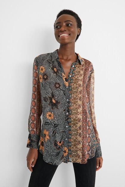 Boho-shirt met lurex