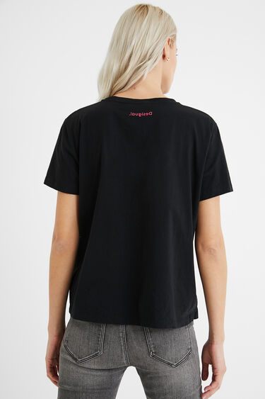 T-shirt coeurs 100% coton | Desigual