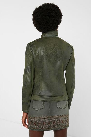 Slim biker jacket embroideries | Desigual