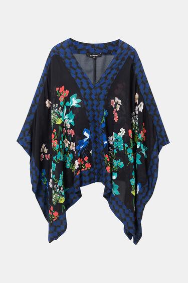 Poncho-Bluse mit Blumenprint | Desigual