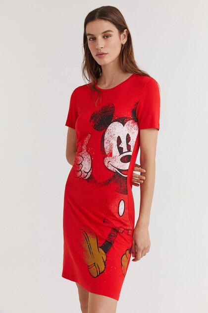 Vestido tipo t-shirt Mickey Mouse