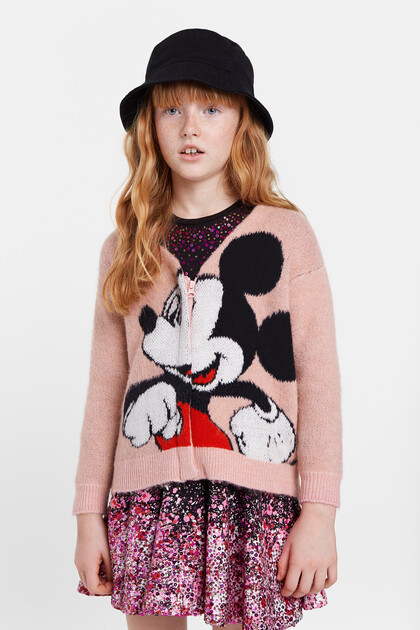 Veste maille Mickey Mouse