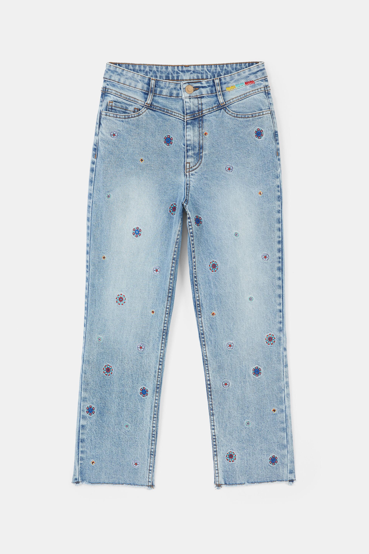 Hosen - Ankle Jeans Straight Mandalas BLUE 34  - Onlineshop Desigual