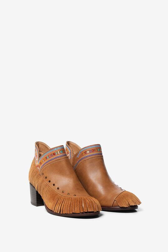 Boho-laarzen met franjes | Desigual