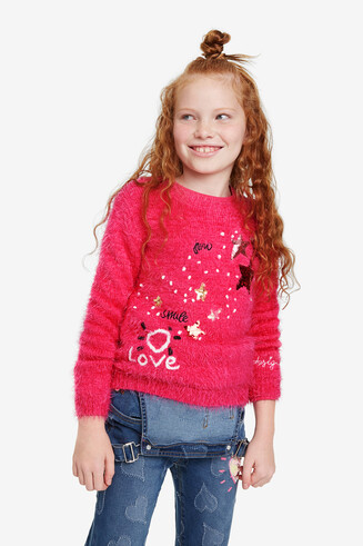 Sequin stars jumper