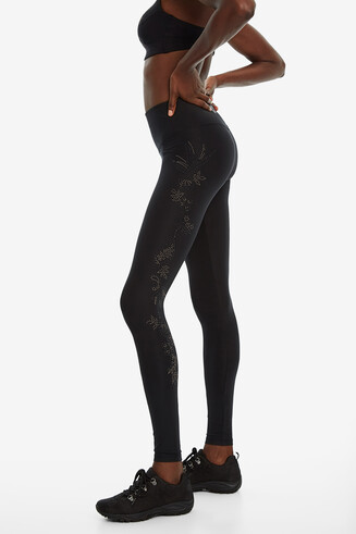 Leggings ornements fleuris