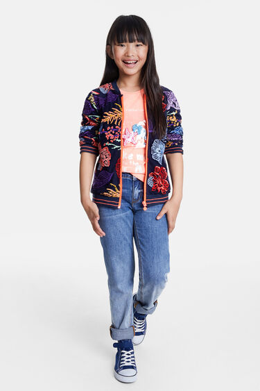 Floral double layer jacket | Desigual