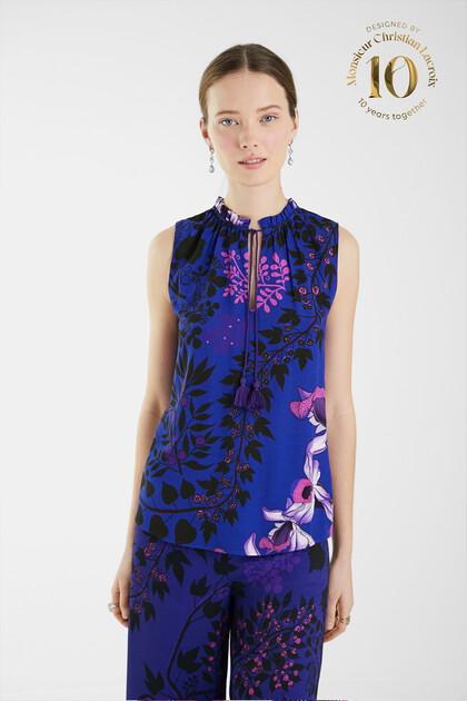 Jacquard print blouse