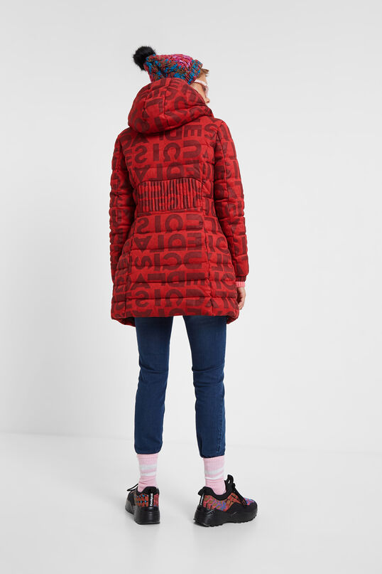 Long padded jacket letters | Desigual