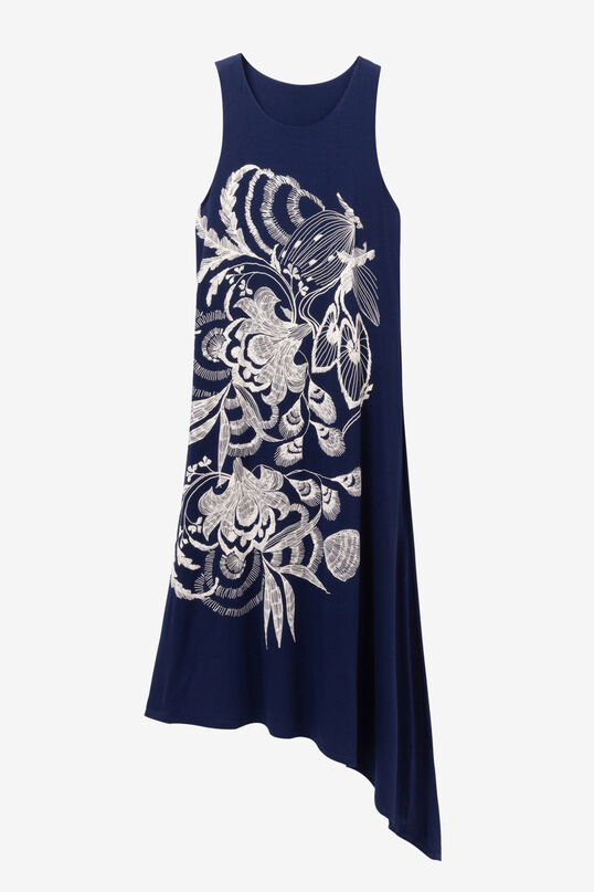 Vestido azul asimétrico Wakiut | Desigual