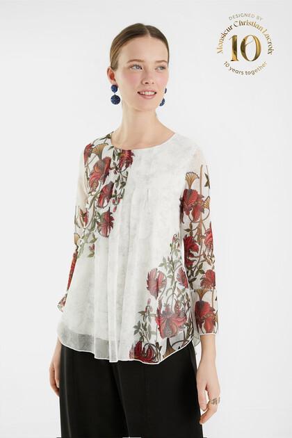 Camiseta avolantada flores