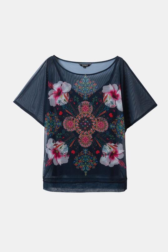 T-shirt fleurs manches longues   Desigual