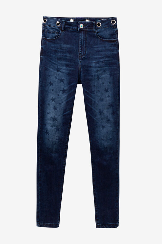 Denim jeans with stars NY Stars | Desigual
