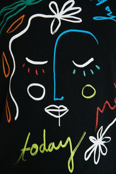Arty T-shirt van 100% katoen | Desigual
