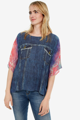 Wide-Sleeved Denim Blouse Denia