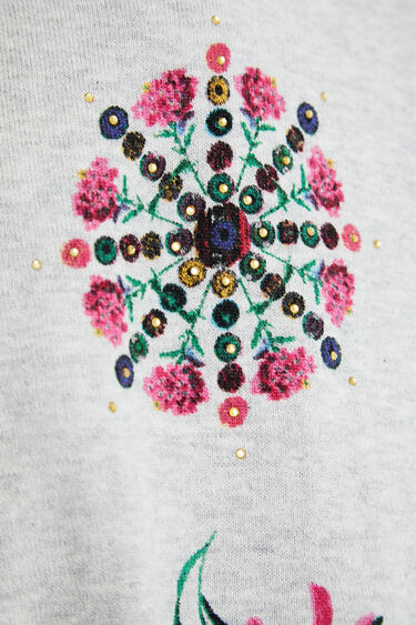 Fine knit print jumper | Desigual