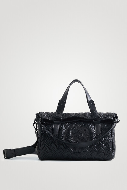 Leather effect handbag smartphone holder