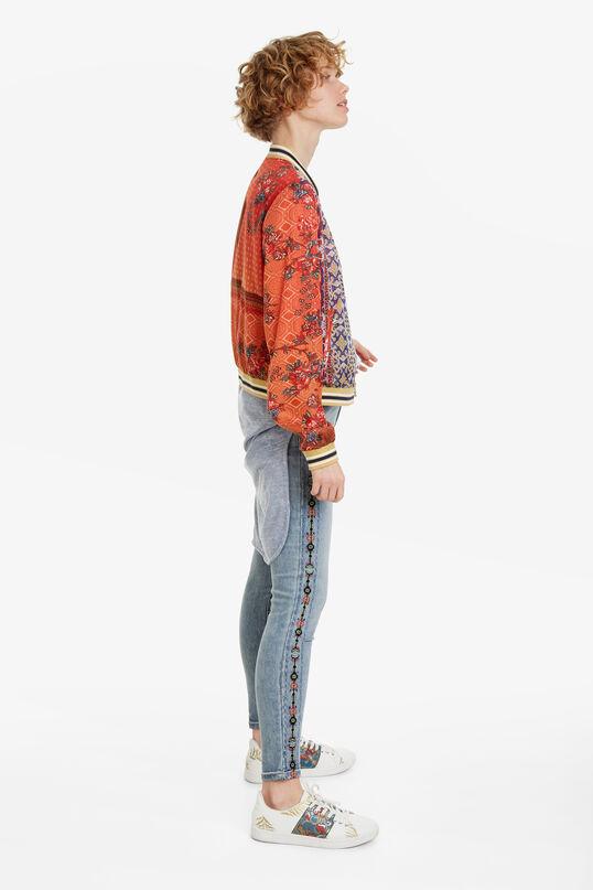 Ethnic-print bomber-style jacket Ribe | Desigual