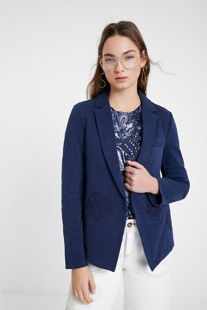Blue mandala blazer