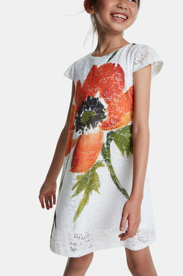 Lace and flower dress | Desigual