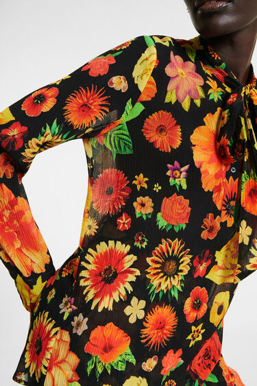 Silk blouse with bow | Desigual