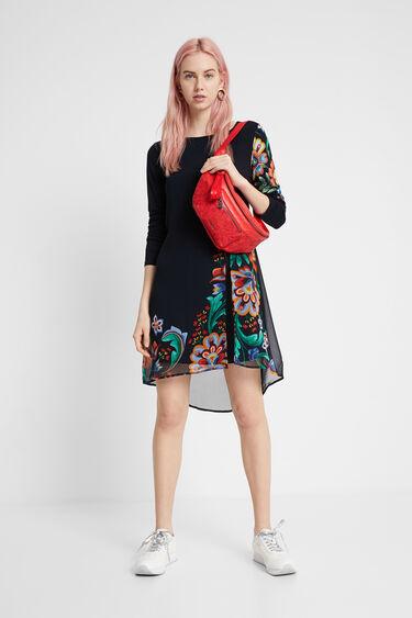 Multilayer floral dress   Desigual