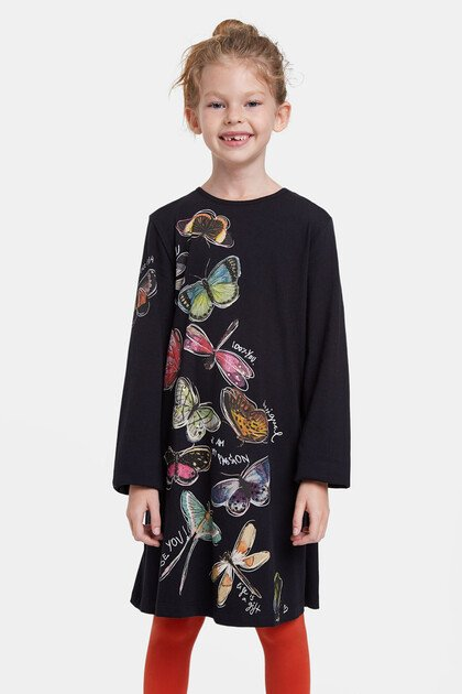 Butterflies T-shirt dress