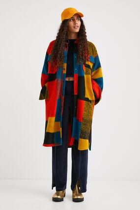 Abrigo largo loose lana colores