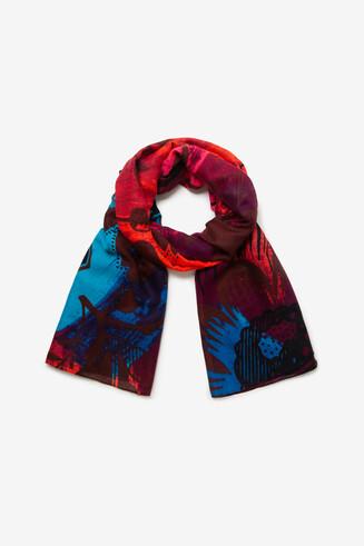 Floral rectangular scarf