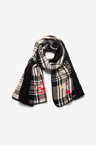 Geruite sjaal van tricot