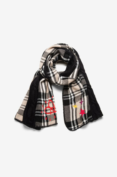 Tartan tricot scarf | Desigual