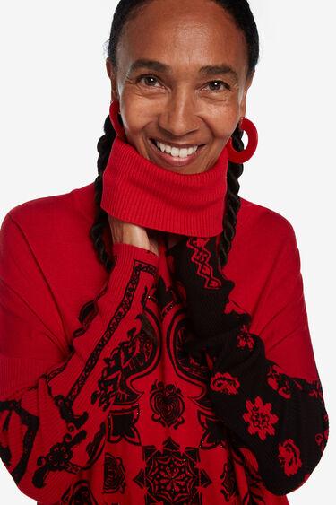 フリンジ付き タートルネックセーター | Desigual