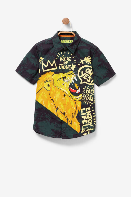 Short-sleeved Shirt with Lion Yuca | Desigual