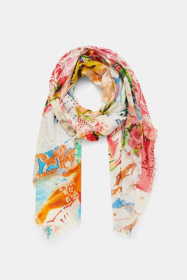 Rectangular Hawaiian pareo foulard | Desigual