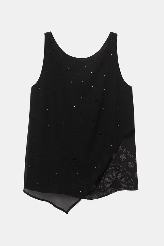 Asymmetric Hindu blouse | Desigual