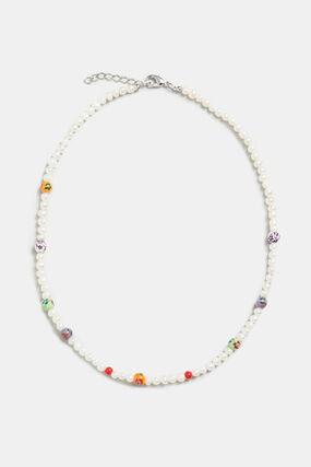 Choker perles de verre façon perle