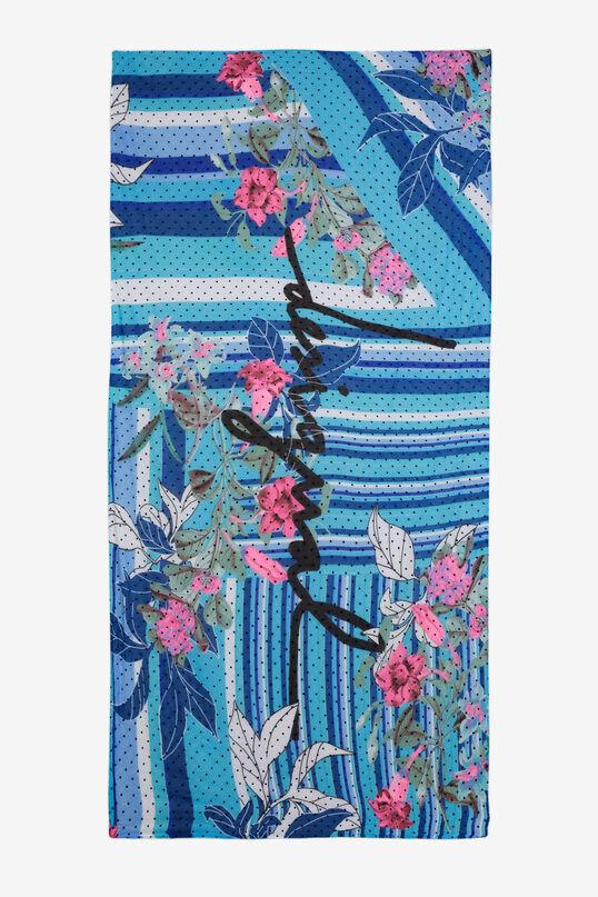Mix Prints Scarf Floresrayadas   Desigual