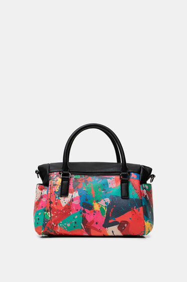 Briefcase bag strips logo   Desigual