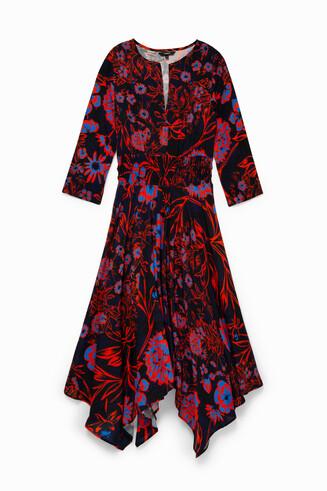 Vestido boho midi con estampado floral