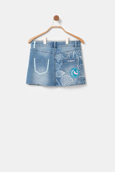 Jean miniskirt with conches and sequins | Desigual